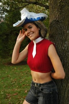 Me as Patti from the anime, Souleater.  I made the hat, tie, and shirt.