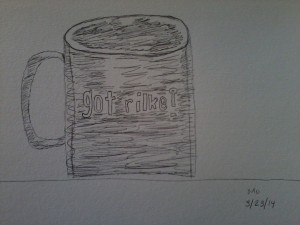My attempt at sketching a mug. I'm hoping to sketch a little bit every day.