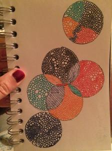 """Circle Study"" Micron Pen in Sketchbook"